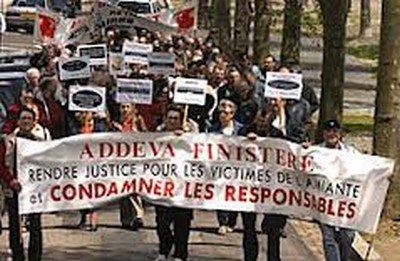 Manifestation des victimes de l'amiante (NPA + LO) dans Santé amiante