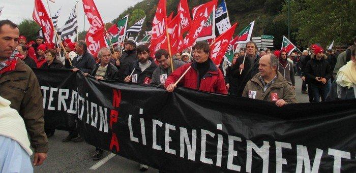 Manifestation du 2 novembre à Quimper (Npa 29) dans Luttes sociales en Finistère k