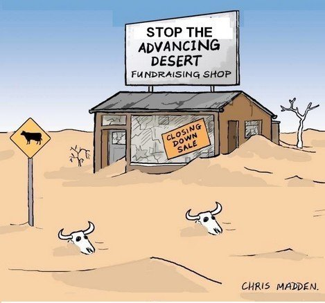 Global warming causing the spread of deserts